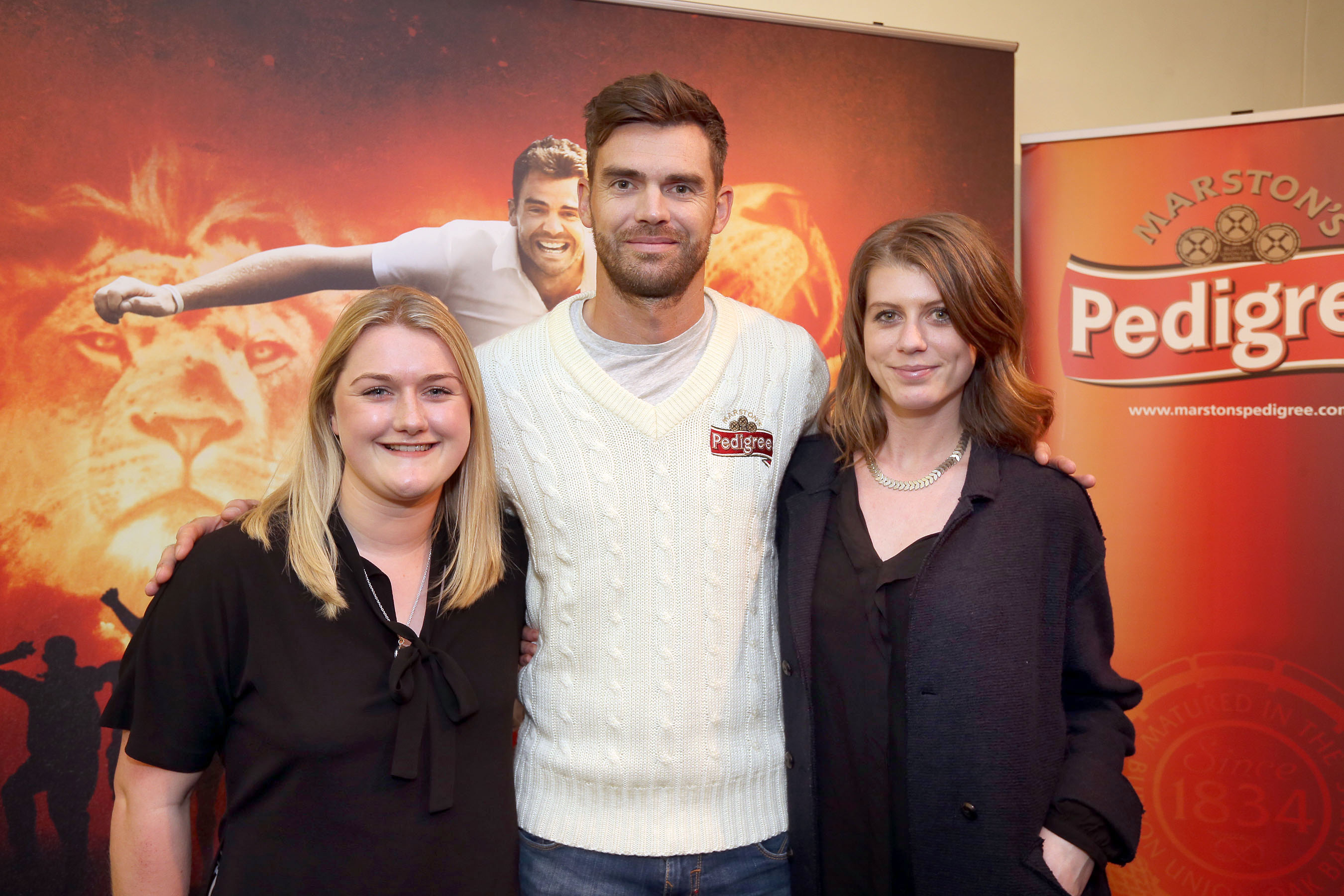 Alice, Jimmy Anderson and Lauren